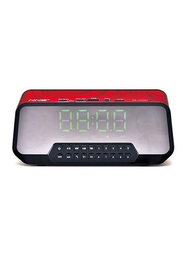 Platoon PL-4142 Işıklı Bluetooth Speaker Fm/Sd/Usb Kırmızı